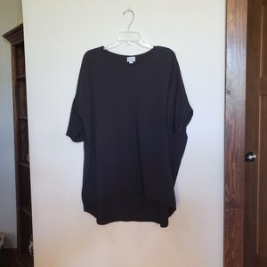 Solid Black Tunic Top